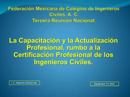 Colegio de Ingenieros Civiles del Estado de Jalisco, AC.