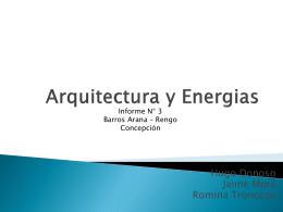 Arquitectura y Energias