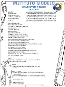 SEGUNDO GRADO - Universidad Modelo