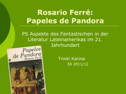 Rosario Ferré: Papeles de Pandora