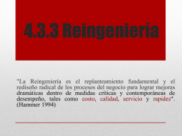 4.3.3 Reingeniería