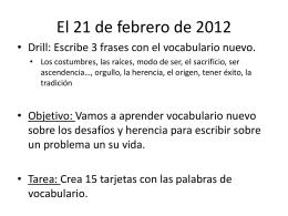 El 21 de febrero de 2012