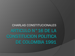 ARTICULO n_16 DE LA CONSTITUCION POLITICA DE