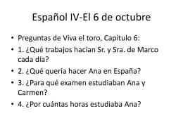 Español IV-El 6 de octubre