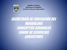 FOSE. - Secretaría de Educación del Magdalena