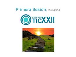 Primera Sesión, 20/9/2014