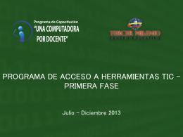 PROGRAMA DE ACCESO A HERRAMIENTAS TIC *UNA