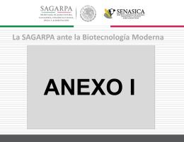 32197.177.59.1.Anexo 1 La SAGARPA ante la Biotecnologia