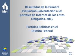 Informe del cumplimiento de la Primera Evaluación de la