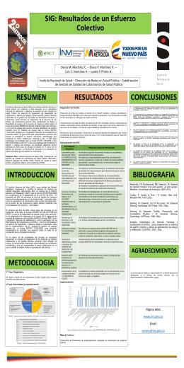 Poster Integracion - Instituto Nacional de Salud