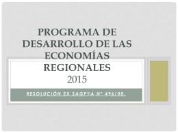 Programa de Desarrollo de las Economías Regionales