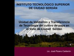 INSTITUTO TECNOLÓGICO SUPERIOR DE CIUDAD