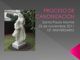 PROCESO DE CANONIZACIÓN - Colegio Escolapias Gandia