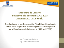 Plan Piloto Metodología Activa (JiTT and PEER) - Adpt
