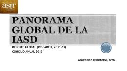 PANORAMA GLOBAL DE LA IASD - Unión Venezolana Oriental