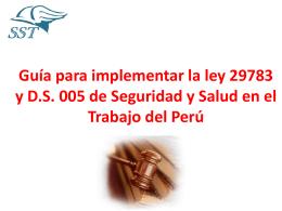 Guía para implementar la ley 29783 de