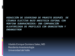 Reducción de severidad de prurito después de césarea electiva