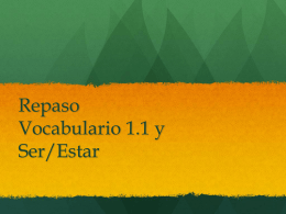Examen ser estar vocab 1