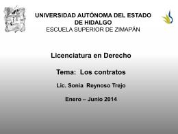 Los contratos - Universidad Autónoma del Estado de Hidalgo
