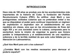 Fundación del Partido Revolucionario Cubano por JosP Martí