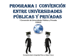 PROGRAMA CONVENCION ENTRE UNIVERSIDADES