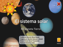 Bessie Meza - NT1 - El sistema solar