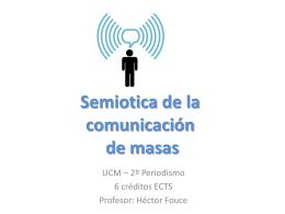 Semiotica de la comunicación de masas