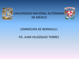 Lemniscata de Bernoulli - Páginas Personales UNAM