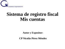 """Sistema de registro fiscal """"Mis cuentas"""""""