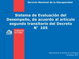 Evaluación - Servicio Nacional de la Discapacidad
