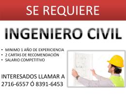 Se Necesita Ingeniero Civil