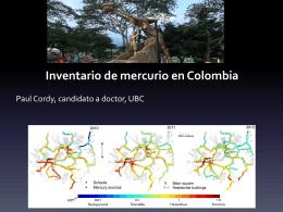 Inventario de mercurio en Colombia