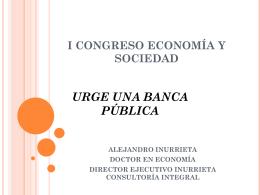 Lo que no es un Banco Público I congreso economía y sociedad