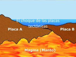 El choque de las placas tectonicas