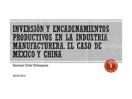 Inversión y encadenamientos productivos en México - red alc