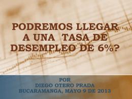 1° Presentación - Desempleo por Dr. Diego Otero Prada