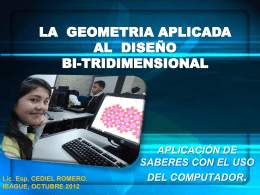 La geometría aplicada al diseño bi-tridimensional