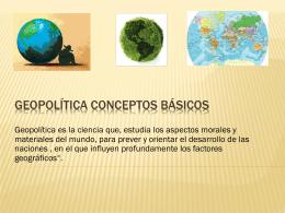 Geopolítica conceptos basicos