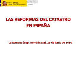 Las Reformas del Catastro en España.