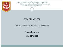UNIVERSIDAD AUTÓNOMA DE TLAXCALA Departamento de