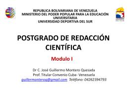 Modulo I - CEIDIS Universidad Deportiva del Sur