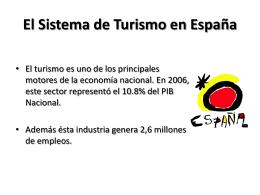 El Sistema de Turismo en España
