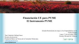 Financiación UE para PYME - Ateneo Mercantil de Valencia