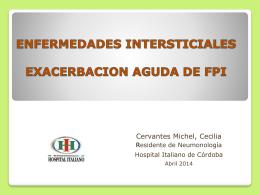 enfermedades intersticiales exacerbacion aguda de fpi