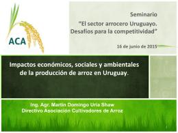 Ing. Agr. Martín Uría, Directivo - Asociación Cultivadores de Arroz I