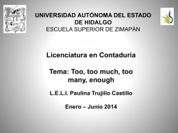 too / enough - Universidad Autónoma del Estado de Hidalgo
