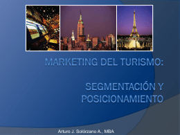 Marketing del Turismo - Segmentación y Posicionamiento