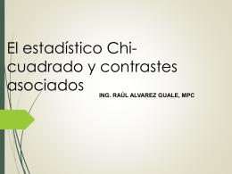 Pruebas Chi Cuadrado - Raul Jimmy Alvarez Guale