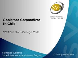 Gobiernos Corporativos en Chile - Superintendencia de Valores y