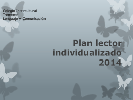 Plan lector individualizado 2014
